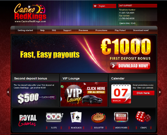 casino kings bonus code